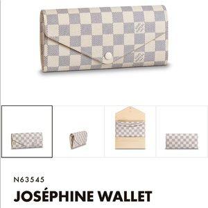 Louis Vuitton Wallet~JOSEPHINE~Damier Azur Canvas